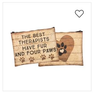 Primitives By Kathy Dog Paws Zipper Pouch